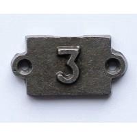 Chiffre industriel  en fonte #  3  (260)