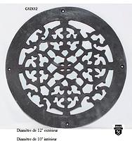 Grille de plancher en fonte ronde g12x12        (3599)
