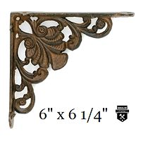 Équerre de fonte décorative petite  ua268d  (585)