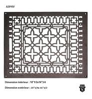 Grille de plancher  en fonte  (20X16) A2016V              (10000)
