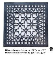 Grille de plancher  en fonte     16/16   (8000)