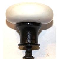 Bouton De Fonte Et Porcelaine A615v