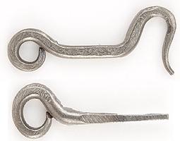 Crochet de porte forgé à la main 1232/1230 033