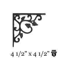 Équerre en fonte motif de vigne a122v