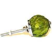 Bouton de verre vert bouteille a54v
