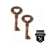 """Clé décorative forme de coeur 1 1/2"""" rk917    (177)"""