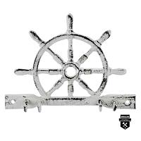 Porte clés roue de bateau blanc  s4018