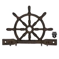 Porte clés roue de bateau brun   s4035