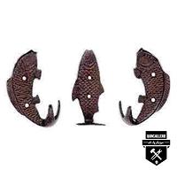 crochets 3  poissons fonte s4125  (600)