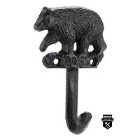Crochet de fonte ours en fonte noir  w6210 (200)