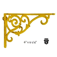 équerre décorative jaune en fonte w6259-j (450)