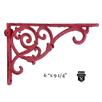 Équerre décorative rouge  en fonte  w6259-r  (450)
