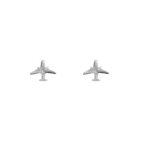 Boucles d'oreilles avion - argent