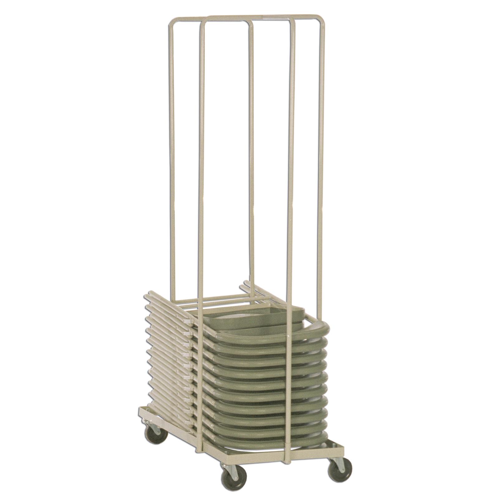 Folding steel chair caddy