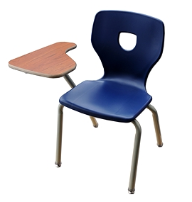 Chaise tablette Silhouette empilable