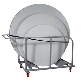 Chariot table de plastique ronde