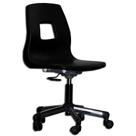 Chaise ordinateur coquille base chrome