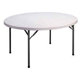 Table de plastique ronde