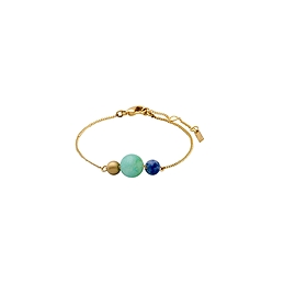 Bracelet avec breloque de pierres précieuses or
