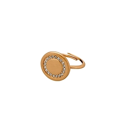 Bague style amulette ronde or rosé