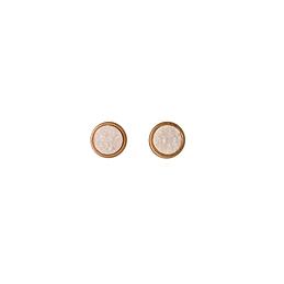 Boucle d'oreille stud blanc or rosé