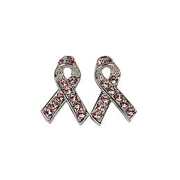 Boucles d'oreilles Cancer du sein rose