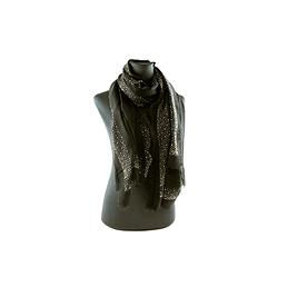 Foulard rehaussée de brillants noir