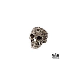 Bague crâne florale