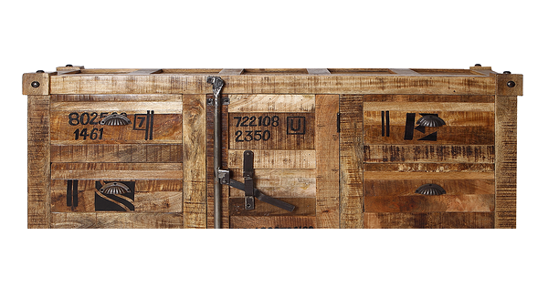 meubles container en bois de manguier et acier design industriel. Black Bedroom Furniture Sets. Home Design Ideas