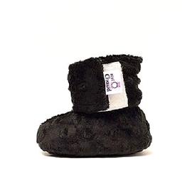 Pantoufles noires - Bébé Ô Chaud - Diverses grandeurs