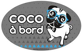 Autocollant pour voiture - Coco à bord