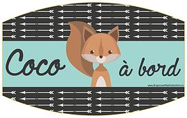 Autocollant pour la voiture - Coco à bord