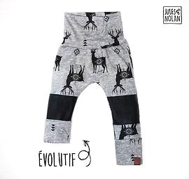 Pantalon évolutif 4-5T Jules et Nolan - Cerfs
