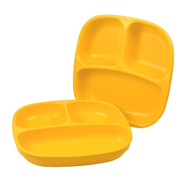 Assiette divisée - Re-Play - Sunny Yellow