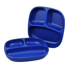 Assiette divisée - Re-Play - Bleu foncé