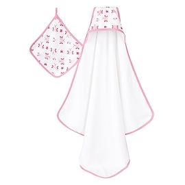 Serviette de bain à capuchon et débarbouillette - Princess Posie