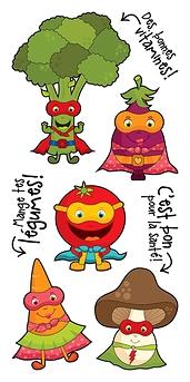 Les super légumes - Pico Tatouages - Collection Tatouée maman