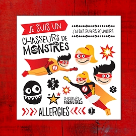 Allergies multiples - Pico tatouages temporaires