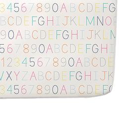 Drap housse pour matelas couchette - Alphabet - Petit Pehr