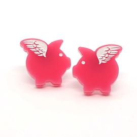 Boucles d'oreilles Lilipop cochon ailé