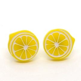 Boucles d'oreilles Lilipop citron