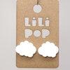 Boucles d'oreilles Lilipop nuage blanc