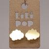 Boucles d'oreilles Lilipop nuage miroir doré