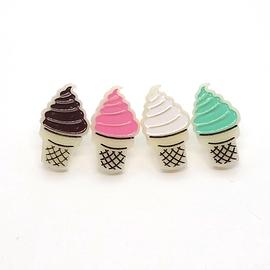 Boucles d'oreilles Lilipop cornet crème glacée chocolat