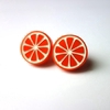 Boucles d'oreilles Lilipop orange