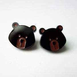 Boucles d'oreilles Lilipop ours noir