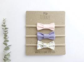 Trio de bandeaux - boucles en tissu - Mlle Léonie