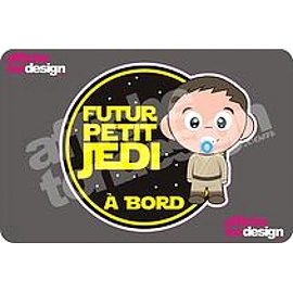 Autocollant de voiture - Futur Petit Jedi à Bord - Affiche ton design