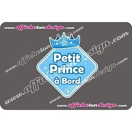 Autocollant de voiture - Petit Prince à Bord- Affiche ton design
