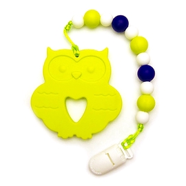 Jouet de dentition - Hibou vert